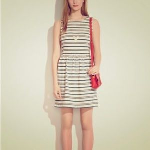 Madewell Sleeveless striped fit and flare dress